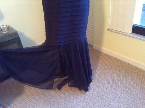 vestido fiesta largo grande strech nuevo de usa talle 12 xl