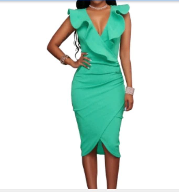 modelos de gran variedad calidad autentica elegante en estilo Vestido Fiesta/cóctel Verde Esmeralda Talle Xxxl Real