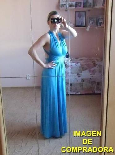 vestido largo 15 posturas diferentes -a acero  por encargue 