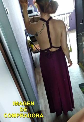 vestido largo 15 posturas diferentes -púrpura |por encargue|