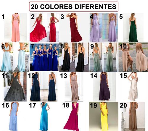vestido largo 15 posturas diferentes -v claro  por encargue 