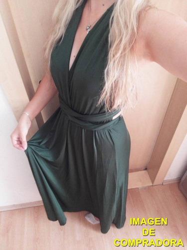 vestido largo 15 posturas diferentes - verdeo  por encargue 