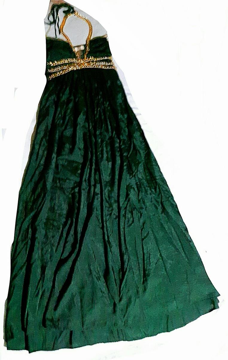 Vestido verde oscuro largo