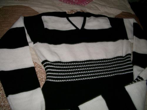 vestido largo manga larga tejido maquina rayado