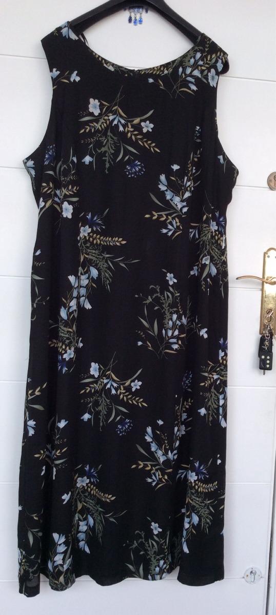 5d778be74 26 t vestido largo estampado flores Cargando zoom mujer forrado wqSYSnZ4x