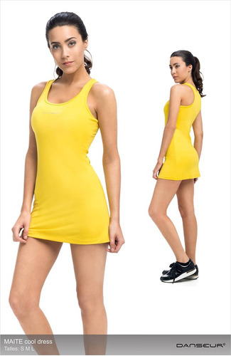 vestido musculosa tenis microfibra danseur - modelo maite