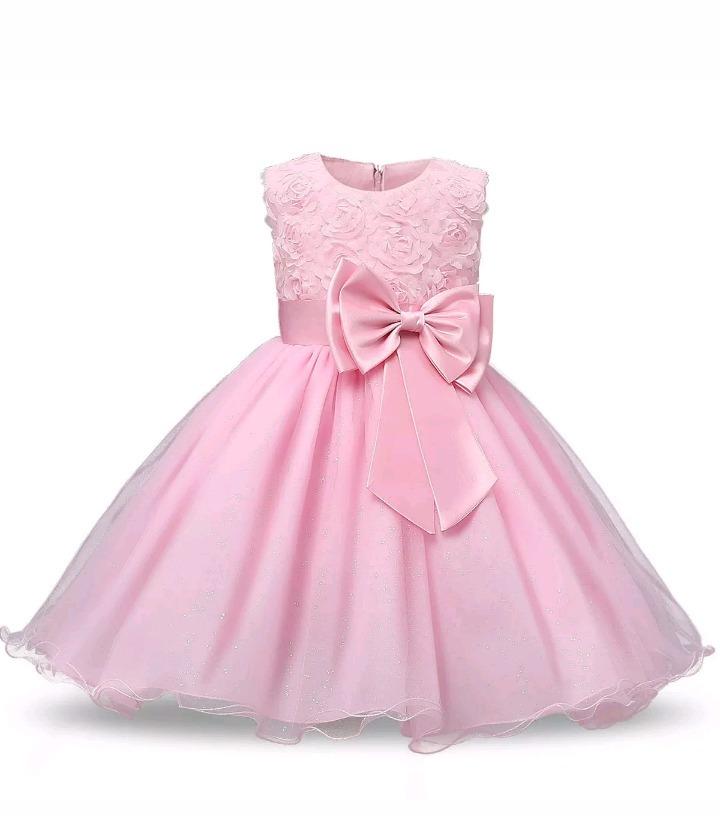 Vestido Niña Fiesta Rosa Talle 3 4 Años Nuevo Cumple De 15