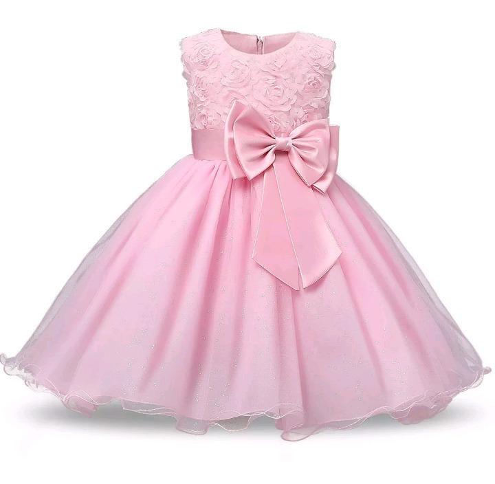 Vestido Niña Fiesta Rosa Talle 3 Años Nuevo Cumple De 15