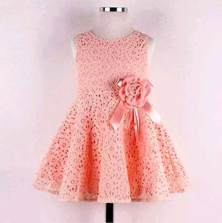 Vestido Niña Fiesta Rosa Talle 5 6 Años Nuevo C Etiquetas