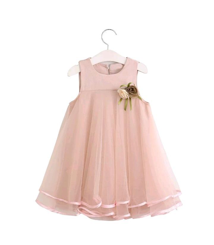 2169bba6f vestido niña fiesta rosa tul perlas encaje talle 1-2 nuevo. Cargando zoom.