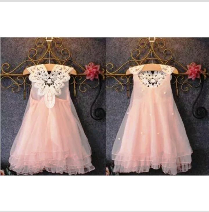 10081626d Vestido Niña Fiesta Rosa Tul Perlas Encaje Talle 2 Nuevo - $ 750,00 ...