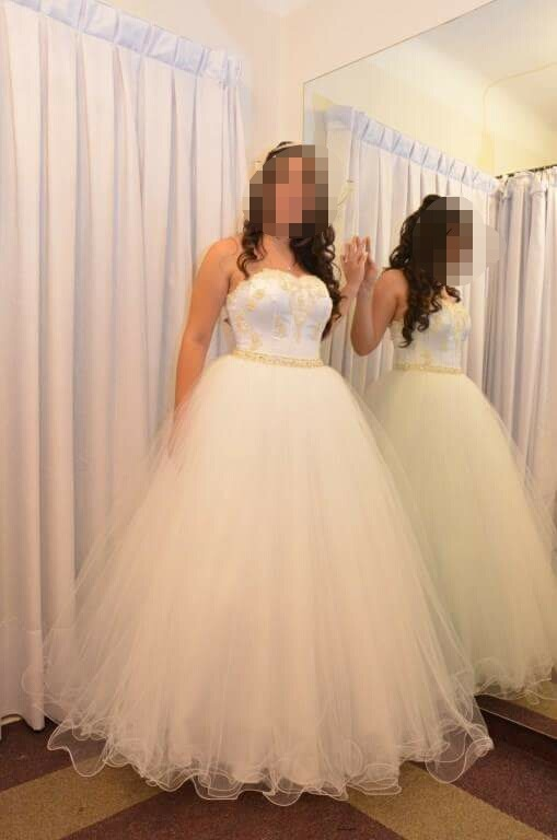 194aecb6e Vestido Para Quinceañera Blanco Usado -   7.500