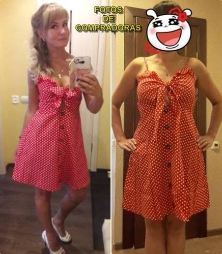 vestido primavera verano estampado lunares 22 |por encargue|