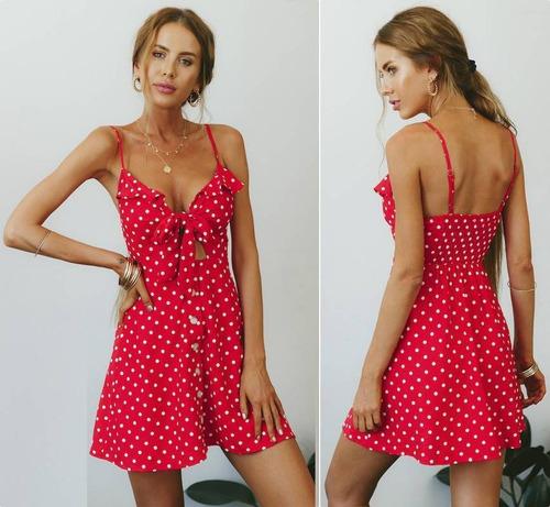 vestido primavera verano estampado lunares |por encargue|