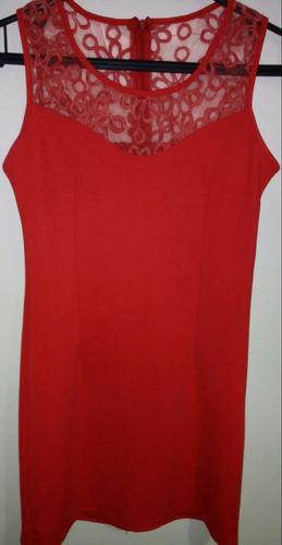 vestido rojo semi-formal