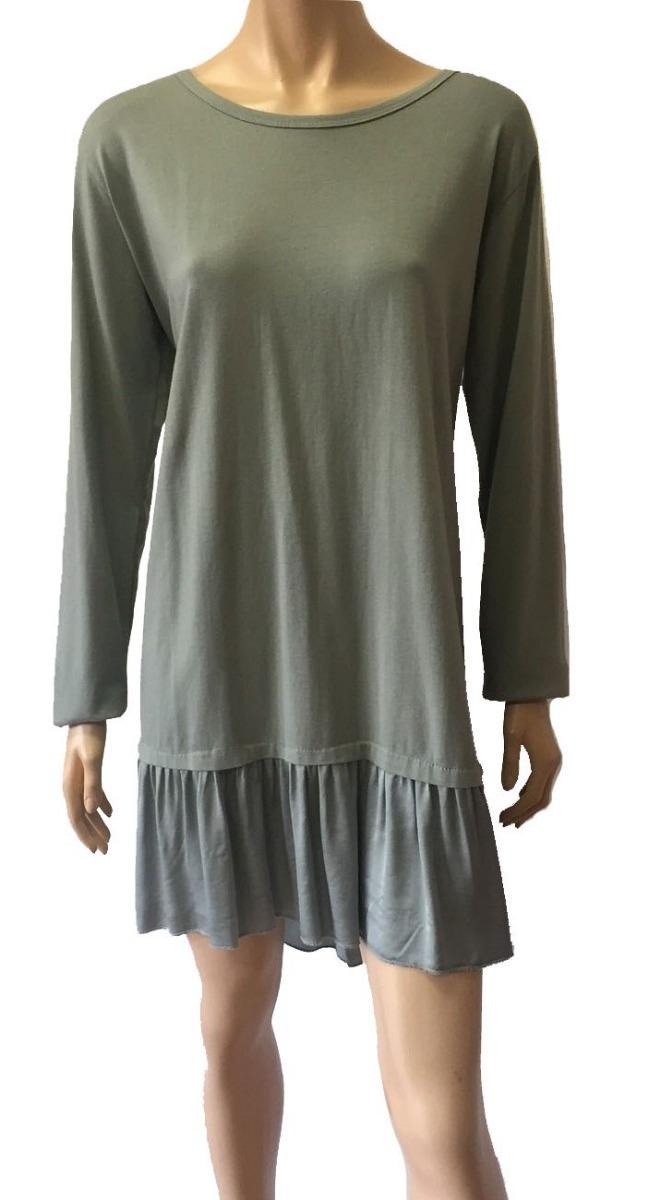 e2a4688e00 vestido verde seco detalle de aro en espalda. Cargando zoom.