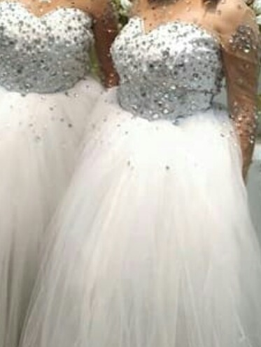 Blanco vestidos 15