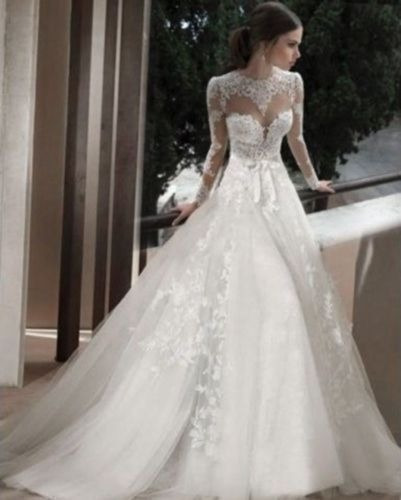 vestidos de novia manga larga - $ 14.000,00 en mercado libre