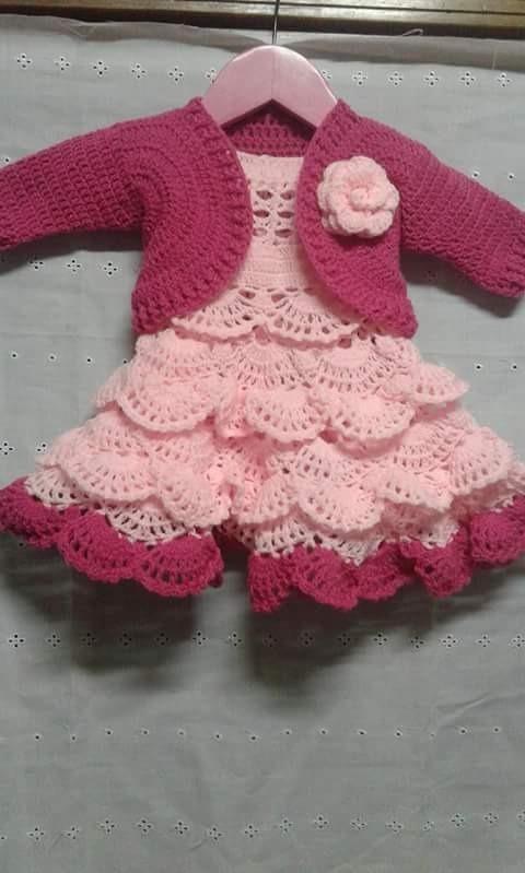 Vestidos Tejidos En Crochet Para Bautizo Buscar Con