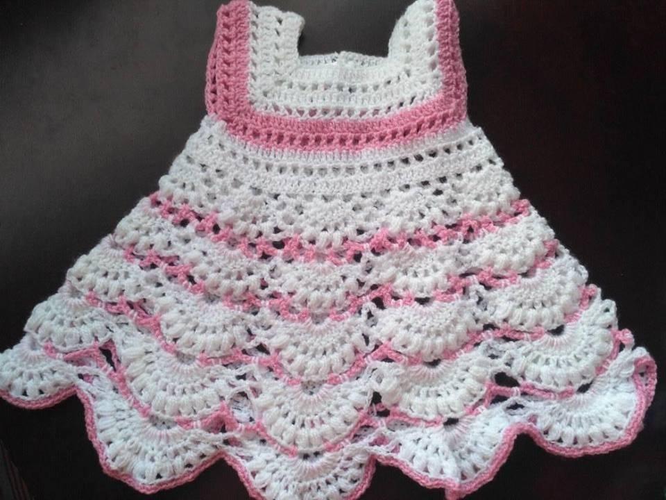 Vestidos Tejidos En Crochet Para Bebes 75000 En Mercado Libre