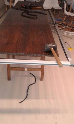 vidrieria blindex y  aluminio carpintería.