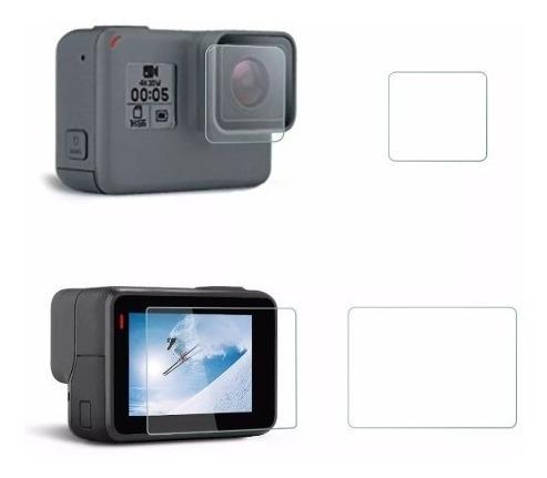 vidrio templado protector pantalla lente gopro hero 5 6 7