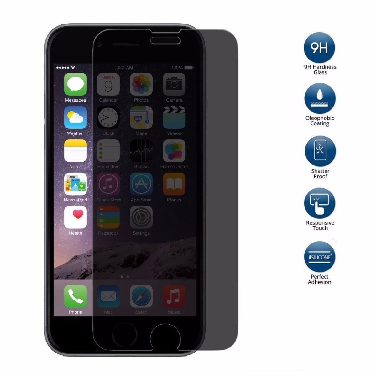ca76bcecfa5 Vidrio Templado Protector Anti Espia Para iPhone 6, 6s - $ 149,00 en ...