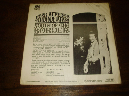 vinilo 12'' helb alpert's tijuana brass south of the border