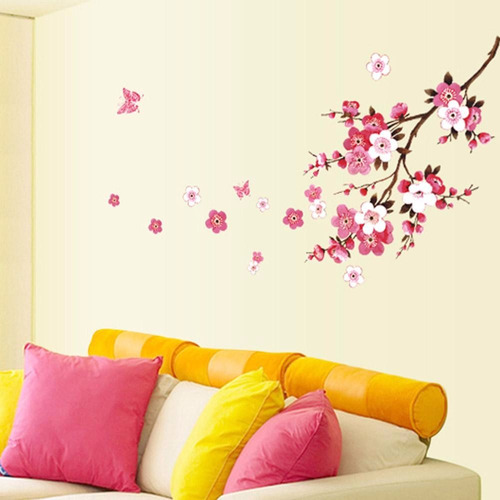 vinilo decorativo flor de durazno