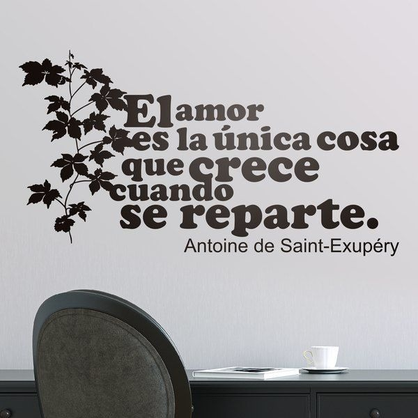 Vinilo Decorativo Frase Sobre El Amor 150x80 Jota 1 000 00 En