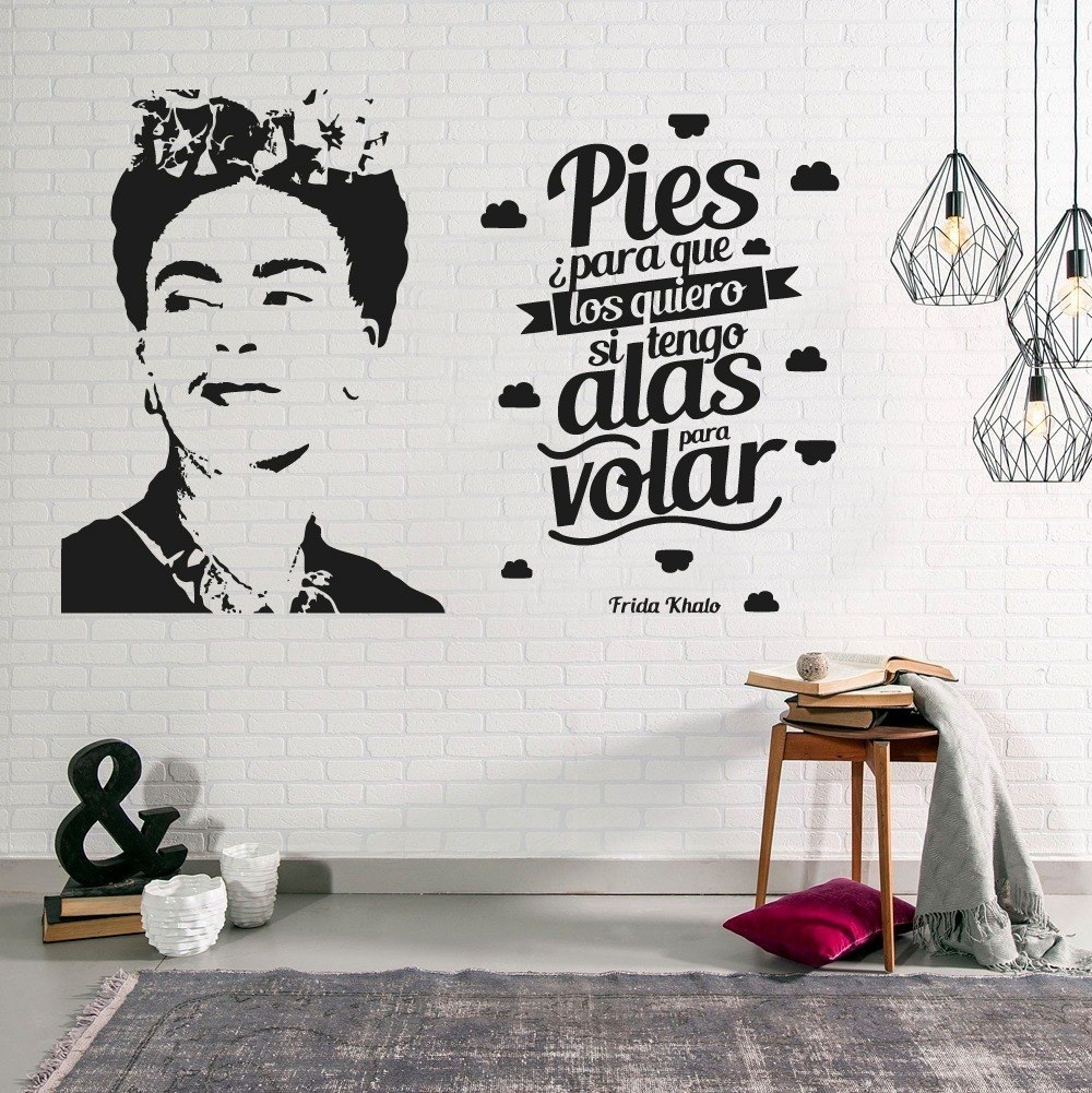 Vinilo decorativo frida kahlo decoraci n frase pared for Vinilos decorativos pared 3d
