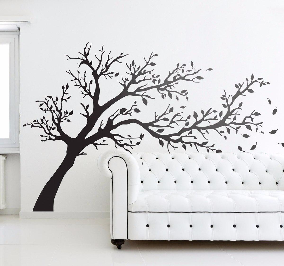 Vinilo decorativo pared arbol torcido 115x180cm jota - Arboles decorativos ...