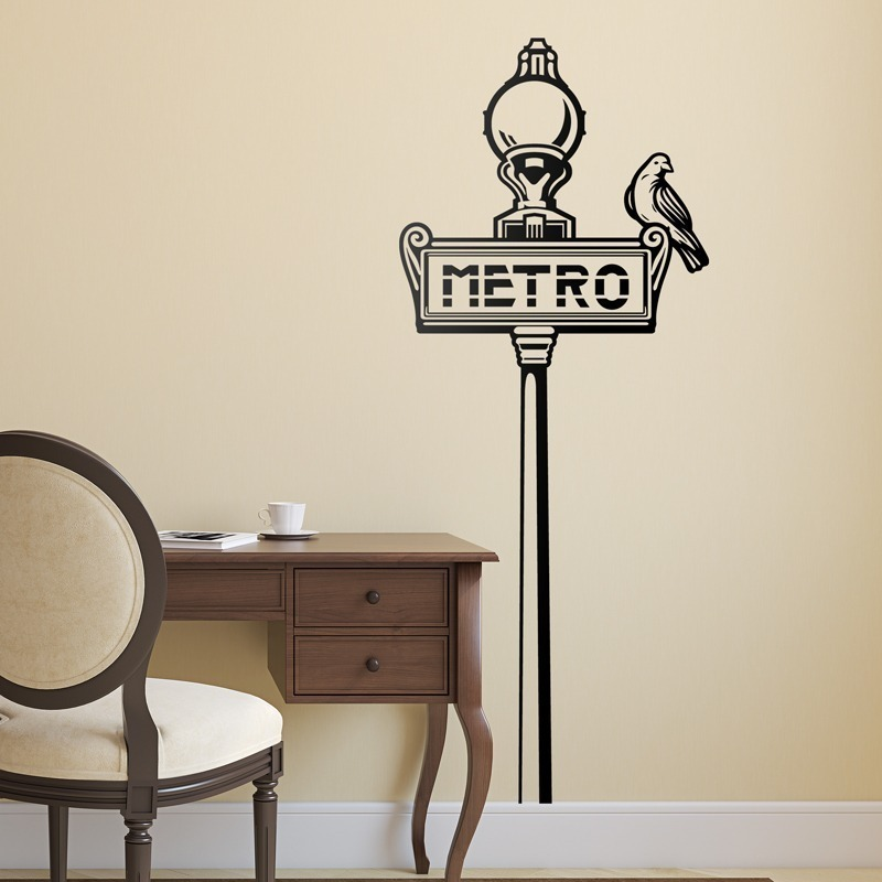 Vinilos Pared Vintage.Vinilo Decorativo Pared Vintage Metro 59x100
