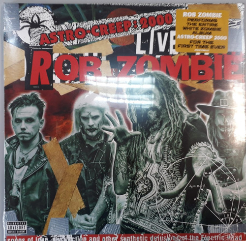 vinilo doble rob zombie astro creep en vivo