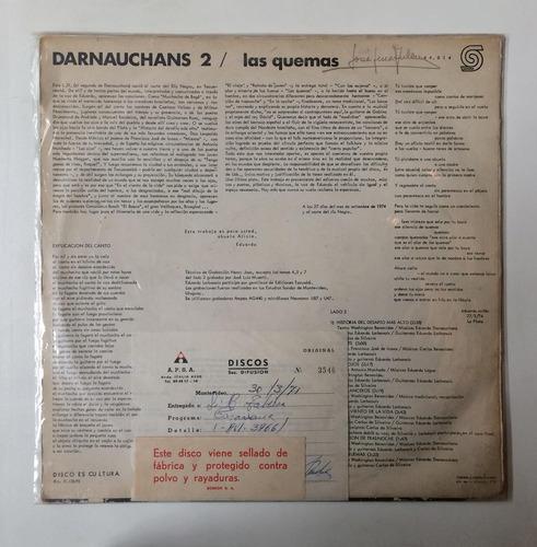 vinilo lp eduardo darnauchans  las quemas  uruguay 1974