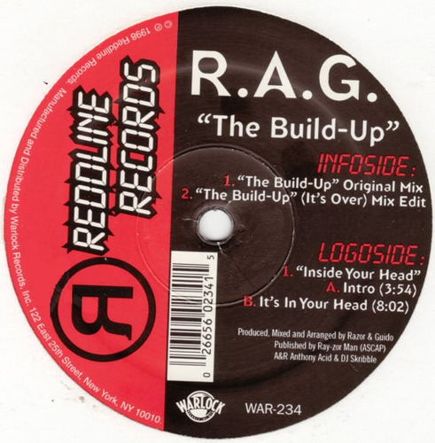 vinilo  r.a.g. - the build up / inside your head 90''