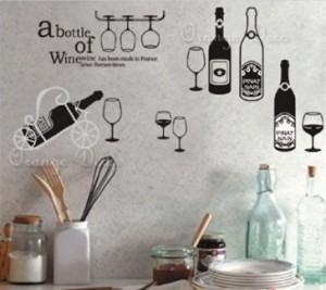 vinilos adhesivos decorativos botellas y copas vino jm7211