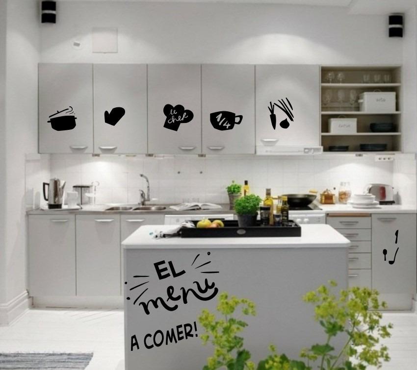 Vinilos cocinas decorativos frases nuevos env o gratis - Cocinas con vinilos ...