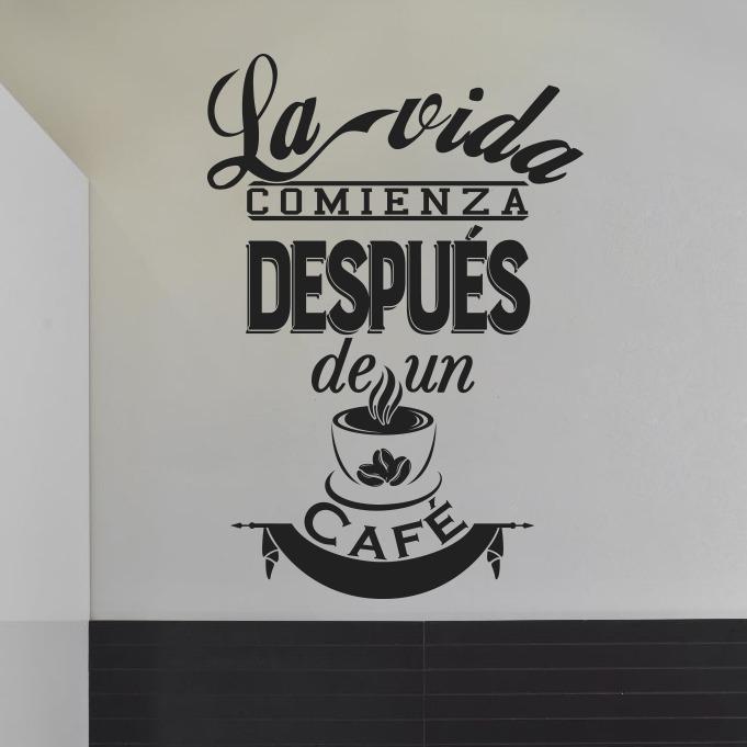 Vinilos Decorativos Cocina Frases Café Varios Diseños 58x50