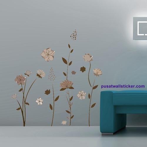 vinilos decorativos flores marrones jm8192