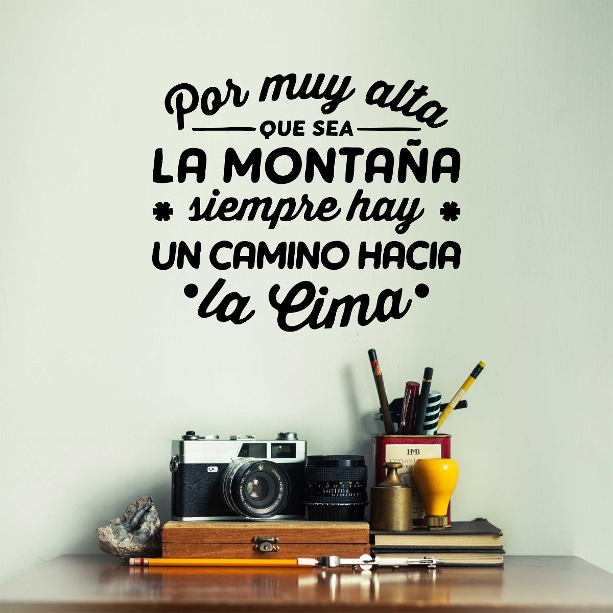 Vinilos decorativos para pared frases 200 00 en for Pegatinas frases pared
