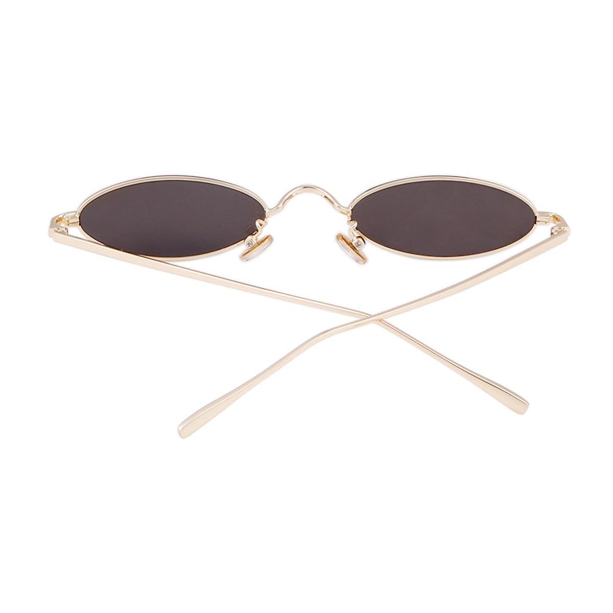 vintage gafas de sol ovaladas pequeñas delgado marco meta. Cargando zoom. d24d601214ef