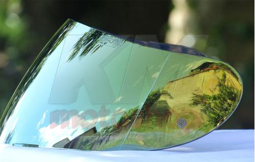 viseira espelhada dourada agv k3 k4 street 8 anti-risco