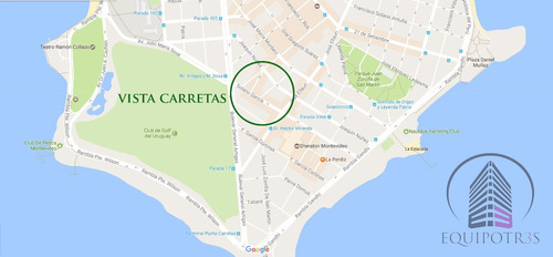 vista carretas: monoambiente, 33m2, a mts shopp pta carretas