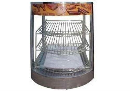 vitrina de calor sobre mostrador