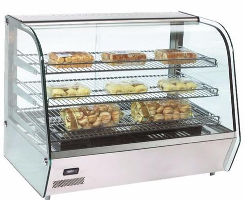 vitrina exhibidor sobre mostrador calor