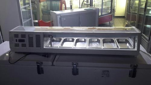 vitrina sobre mostrador 6 bandejas lundar rts-62l