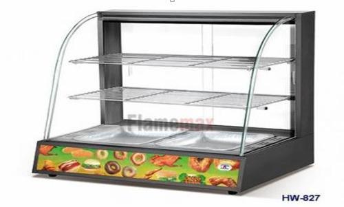 vitrina sobre mostrador calor