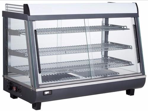 vitrina sobre mostrador, calor, autoservice