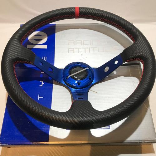 volante deportivo tuning racing sparco azul negro vsfc522